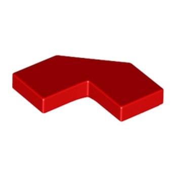 LEGO 6217194 PLATE LISSE 2X2, 2X2, DEG. 90, W/ DEG. 45 - ROUGE