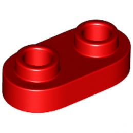 LEGO 6210269 PLATE 1X2, ROND - ROUGE