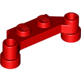 LEGO 6218227 PLATE 1X4 SPLIT-LEVEL - ROUGE