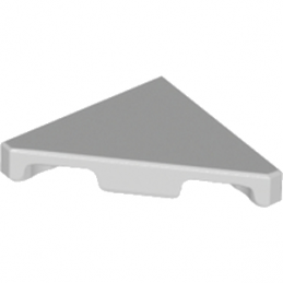 LEGO 6217876 PLATE LISSE 2X2 45° - MEDIUM STONE GREY