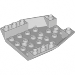 LEGO 6195466 ROOF TILE 6X6X1, INV. DEG. 45/18 - MEDIUM STONE GREY