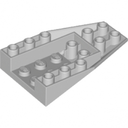 LEGO 6195467 ROOF TILE 4X6/18° INV. - MEDIUM STONE GREY