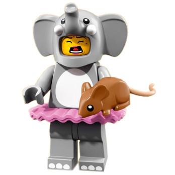 Mini Figurine Lego® Série 18 - La fille déguisée en éléphant