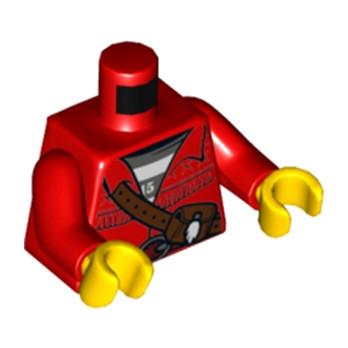 LEGO 6212278 TORSE - ROUGE