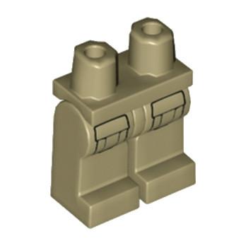 LEGO 6209990 JAMBE IMPRIME - SAND YELLOW