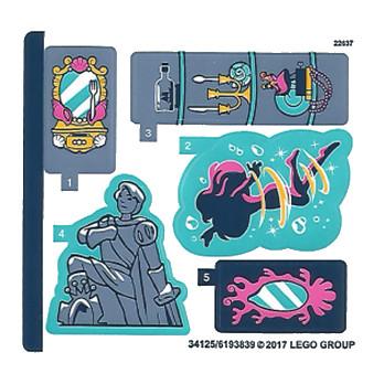 Stickers / Autocollant Lego Disney Princesse - 41145