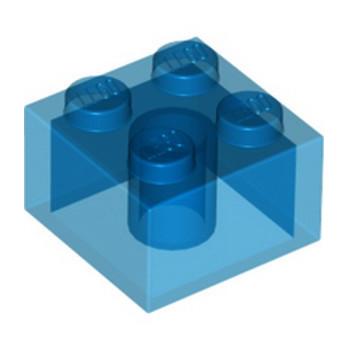 LEGO 4144387 BRIQUE 2X2 - BLEU FONCE TRANSPARENT