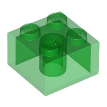 LEGO 4143334 BRIQUE 2X2 - VERT TRANSPARENT