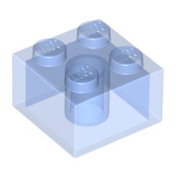 LEGO 6239417 BRIQUE 2X2 - BLEU MEDIUM TRANSPARENT