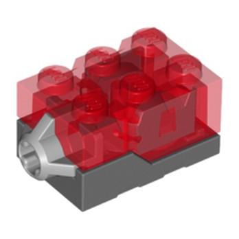LEGO 6121786 BRIQUE POUR ECLAIRAGE 2X3X1 1/3 - ROUGE