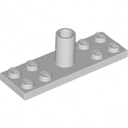 LEGO 6194727 PLATE 2X6 FOR POLE W/ 3.2 SHAFT - MEDIUM STONE GREY