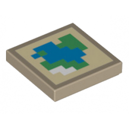 LEGO 6192746 PLATE LISSE 2X2 - IMPRIME MINECRAFT