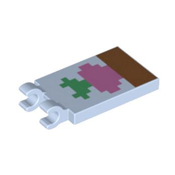 LEGO  6215570 PLATE 2X3 CROCHET - IMPRIME MINECRAFT