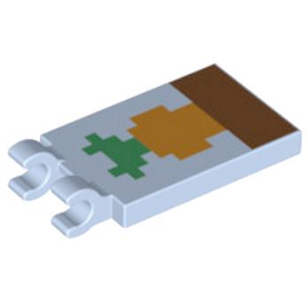 LEGO 6215580 PLATE 2X3 CROCHET - IMPRIME MINECRAFT