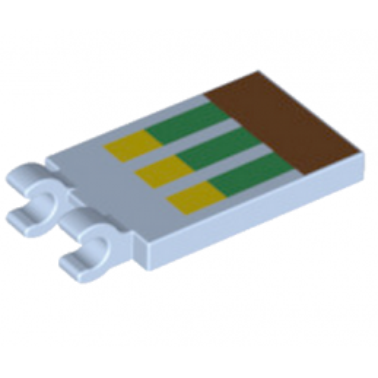 LEGO 6215583 PLATE 2X3 CROCHET - IMPRIME MINECRAFT