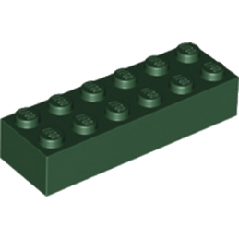 LEGO 6215657 BRIQUE 2X6 - EARTH GREEN