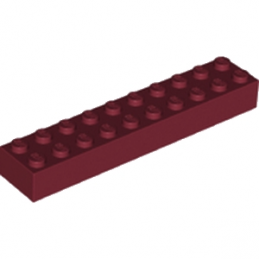 LEGO 6212075 BRIQUE 2X10 - NEW DARK RED