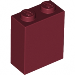 LEGO 6212084 BRIQUE 1X2X2 - NEW DARK RED