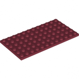 LEGO 6212076 PLATE 6X12 - NEW DARK RED