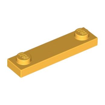 LEGO 6022014 PLATE 1X4 W. 2 KNOBS - FLAME YELLOWISH ORANGE