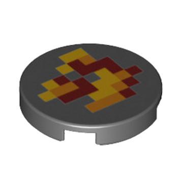 LEGO 6215151 ROND 2X2 - IMPRIME MINECRAFT