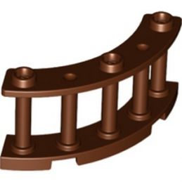 LEGO 6227891 BALUSTRADE 4X4X2 - REDDISH BROWN