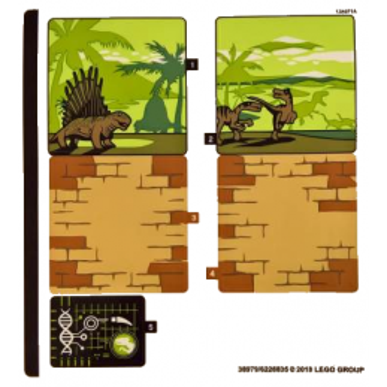 Stickers / Autocollant Lego Jurassic Worl 75930