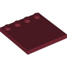 LEGO 6173167 PLATE 4X4 W. 4 KNOBS - NEW DARK RED