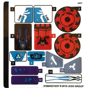 Stickers / Autocollant Lego Ninjago 70639