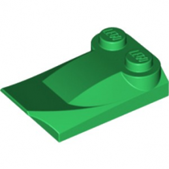 LEGO 6210500 PLATE W. BOWS 2X3½ - DARK GREEN