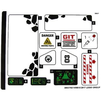 Stickers / Autocollant Lego Ninjago 70631