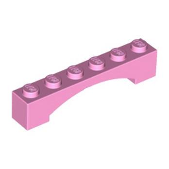 LEGO 6058395 BRIQUE 1X6 W/INSIDE BOW - ROSE CLAIR