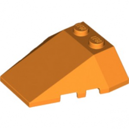 LEGO 6174595 ROOF TILE 4X2/18° W/COR. - ORANGE lego-6174595-roof-tile-4x218-wcor-orange ici :
