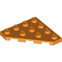 LEGO 6174594 PLATE D'ANGLE 45 DEG. 4X4 - ORANGE
