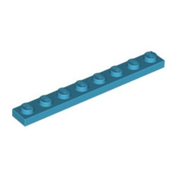 LEGO 6210227 PLATE 1X8 - DARK AZUR
