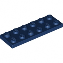LEGO 6097420 PLATE 2X6 - EARTH BLUE lego-6097420-plate-2x6-earth-blue ici :