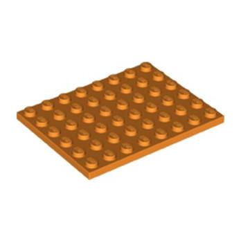 LEGO 6226369 PLATE 6X8 - ORANGE