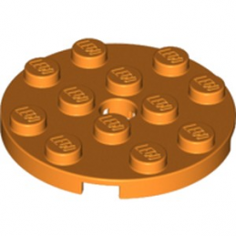 LEGO 6226926 PLATE ROND 4X4 - ORANGE