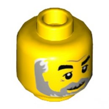 LEGO 6224063 TÊTE HOMME  BARBU