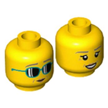 LEGO 6223923 TÊTE FEMME ( 2 FACES )