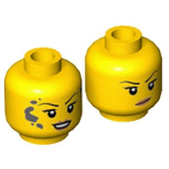 LEGO 6223882 TÊTE FEMME ( 2 FACES )