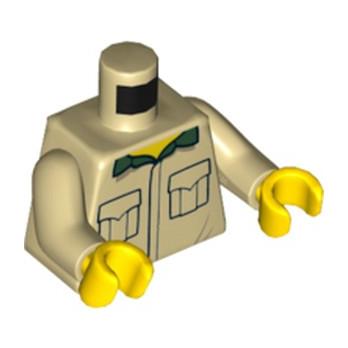 LEGO 6231940 TORSE CHEMISE - BEIGE