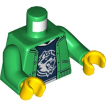 LEGO 6225209 TORSE CHEMISE - DARK GREEN