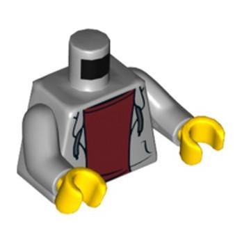LEGO 6153512 TORSE VESTE CAPUCHE - MEDIUM STONE GREY