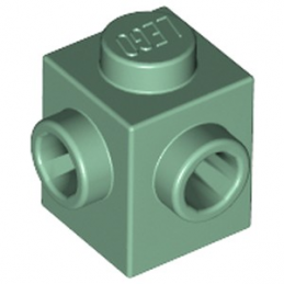 LEGO 6223225 BRIQUE 1X1, W/ 2 KNOBS - SAND GREEN