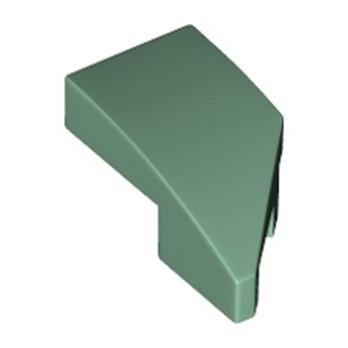 LEGO 6221730 ARQUE 1X2 GAUCHE 45 DEG - SAND GREEN
