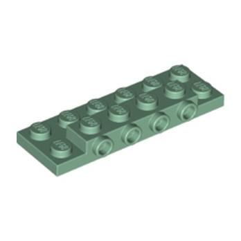 LEGO  6227190 PLATE 2X6X23 W 4 HOR. KNOB - SAND GREEN