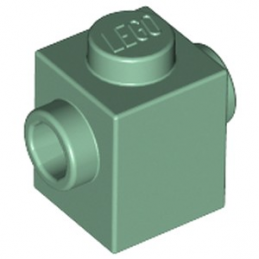 LEGO 6125672 BRIQUE 1X1 W. 2 KNOBS - SAND GREEN