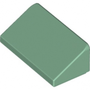 LEGO 6210479 TUILE 1 X 2 X 2/3 - SAND GREEN