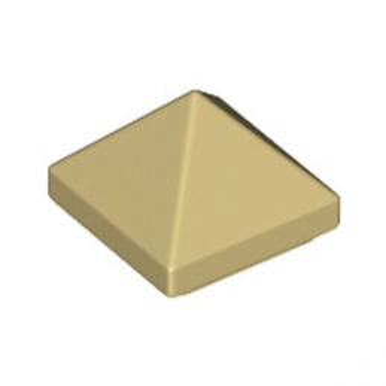 LEGO 6249125 TUILE PYRAMIDE 1X1X2/3 - BEIGE